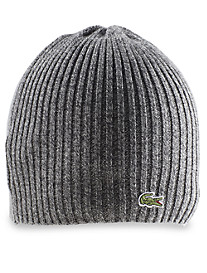 Lacoste® Croc Ribbed-Knit Merino Wool Beanie