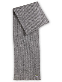 Lacoste® Croc Ribbed-Knit Merino Wool Scarf