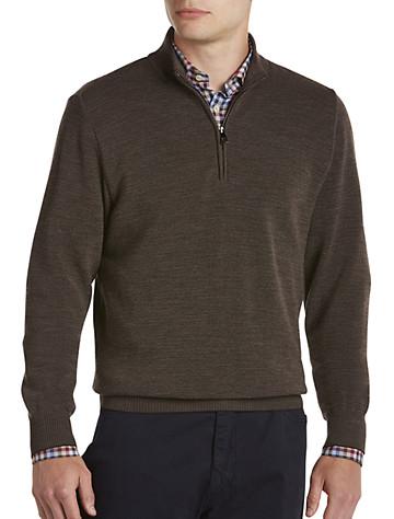 Paul & Shark® Textured Quarter-Zip Wool Sweater | Sweaters & Vests
