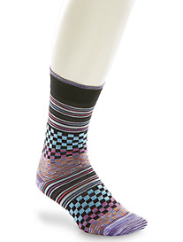 Robert Graham® Angus Check Stripe Socks