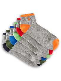 Polo Ralph Lauren® 6-pk Tipped Sport Quarter-Top Socks