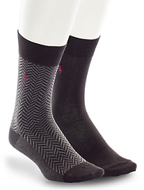Polo Ralph Lauren® 2-pk Herringbone/Solid Socks