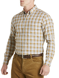 Cutter & Buck® Mount Plaid Twill Sport Shirt