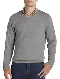 Cutter & Buck® Diamond-Patterned V-Neck Sweater