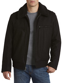 Marc New York Andrew Marc Pressed Wool Bomber Jacket