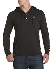 Psycho Bunny® 3-Button Placket Hoodie