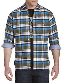 Psycho Bunny Plaid Flannel Sport Shirt