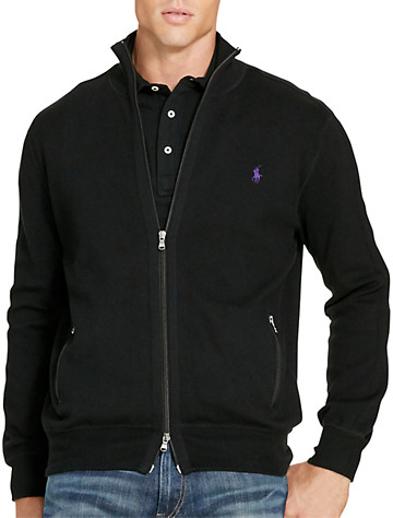 Polo Ralph Lauren® Cotton-Blend Full-Zip Sweater | Sweaters & Vests