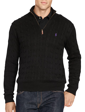 Polo Ralph Lauren® Cable-Knit Half-Zip Sweater | Sweaters & Vests
