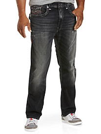 True Religion® Ricky Super T Relaxed Straight Jeans – Dark Dove Wash