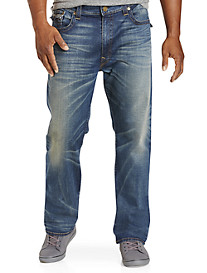 True Religion® Ricky Super T Straight Jeans – Dusty Rider Wash