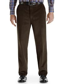 Bruno Saint Hilaire® Flat-Front Wide-Wale Corduroy Pants