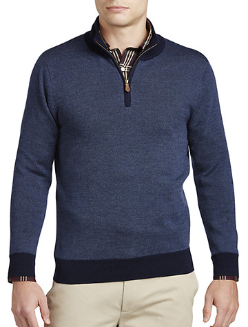 Brooks Brothers® Birdseye Merino Wool Quarter-Zip Pullover