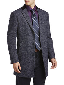 Tallia Orange Herringbone Tweed Overcoat