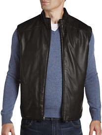 Remy Reversible Leather/Quilted Microfiber Insulated Vest