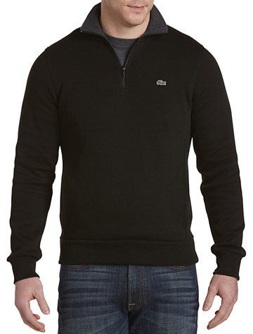 Lacoste® French-Rib Quarter-Zip Pullover | Long Sleeve Knits