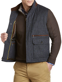Robert Talbott Quilted Donegal Tweed Melange Vest