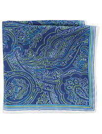 Rochester Multi Paisley Silk Pocket Square