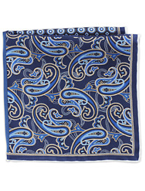 Rochester Paisley Dot Multi Silk Pocket Square