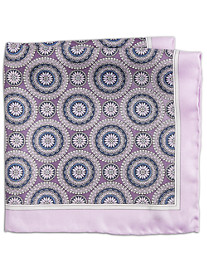 Rochester Floral Medallion Silk Pocket Square