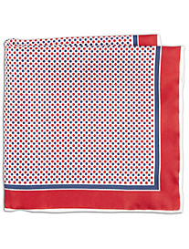 Rochester Double Dot Silk Pocket Square