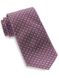 Rochester Small Boxed Floral Medallion Silk Tie