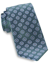 Rochester Medium Floral Medallion Silk Tie