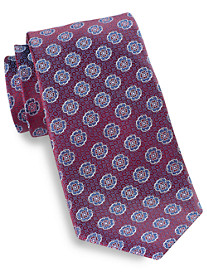 Rochester Medium Floral Medallion Silk Tie