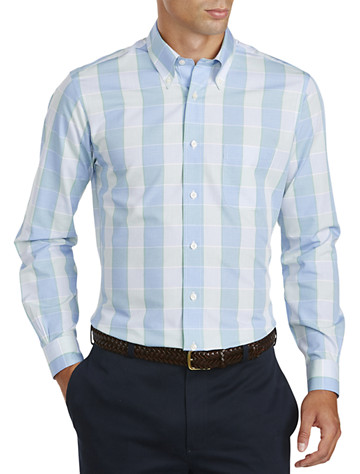 Brooks Brothers® Non-Iron Large Check Broadcloth Sport Shirt -  On Sale!