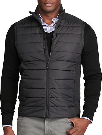 Polo Ralph Lauren® Quilted-Panel Full-Zip Vest | Sweatshirts