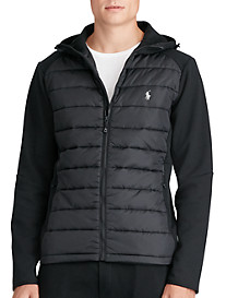 Polo Ralph Lauren® Quilted-Panel Full-Zip Hoodie