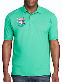 Polo Ralph Lauren® Flag Crest Mesh Polo