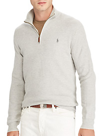 Polo Ralph Lauren Textured Cotton Half-Zip Sweater