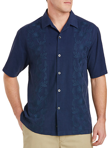 Tommy Bahama® Noivado Beach Silk-Blend Camp Shirt - Available in aleutian night