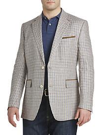 Tallia Orange Check Linen Sport Coat