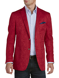 Tallia Orange Tonal Jacquard Sport Coat