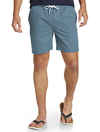 Brooks Brothers® Lifesaver-Print Montauk Swim Trunks