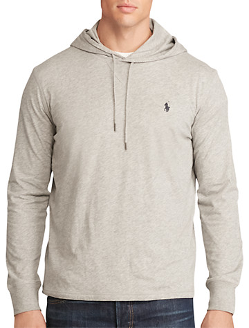 Polo Ralph Lauren® Featherweight Pima Cotton Hoodie - Available in andover heather