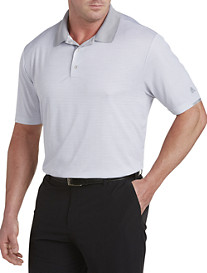 adidas® Golf climachill™ Heather Micro Stripe Polo