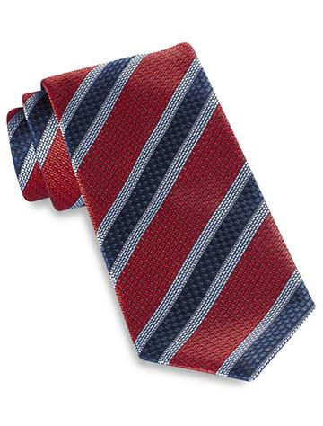 Brioni Large Textured Stripe Silk Tie