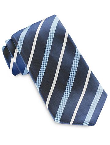 Brioni Heather Stripe Silk Tie