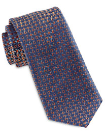 Brioni Small Mixed Shape Neat Silk Tie