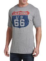 Retro Brand California US 66 Graphic Tee