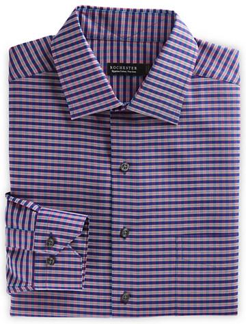 Rochester Non-Iron Check Dress Shirt (navy-red) - $89.5