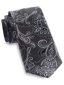 Rochester Large Dot Paisley Silk Tie