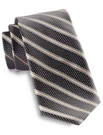 Rochester Iridescent Dot Stripe Silk Tie