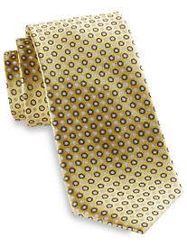 Rochester Small Circle Burst Medallion Silk Tie