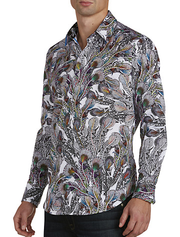 Robert Graham® Goa Feather-Print Sport Shirt