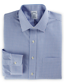 Brooks Brothers® Non-Iron Framed Mini Check Dress Shirt