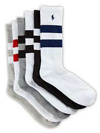 Polo Ralph Lauren® 6-pk Varsity Stripe Crew Socks